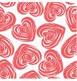 Pink art heart vector image vector image