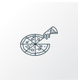 pizza icon line symbol premium quality isolated vector image