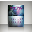 Polygonal 2016 calendar design for FEBRUARY vector image