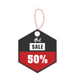 price tag hot sale 50 off image vector image