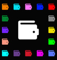 purse icon sign Lots of colorful symbols for your vector image