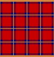 red blue yellow tartan seamless background vector image vector image