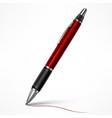 red tilt pen on white vector image vector image
