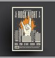 rock night party poster flyer mockup template vector image vector image