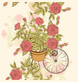 seamless wallpaper pattern with hand drawn roses vector image vector image
