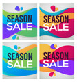 season sale bright and shine gift cards flyers vector image vector image