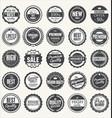set retro vintage badges vector image vector image