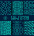 Set seamless islamic patterns