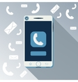 Smartphone call and sends message vector image vector image
