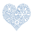 Snowy heart vector image vector image