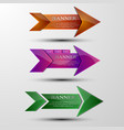 the set of multi colored different arrows vector image