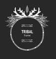 tribal frame vector image vector image