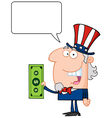 Uncle sam cartoon vector image vector image