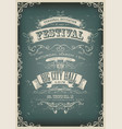 vintage design invitation poster vector image