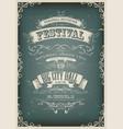 vintage design invitation poster vector image