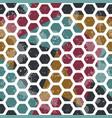vintage mosaic seamless pattern grunge effect vector image vector image