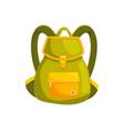 woman backpack bag vector image vector image