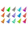 cone paper hat with birthday decoration elements vector image