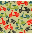 Seamless pattern with vintage scooters vector image
