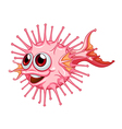 A unique puffer fish vector image vector image
