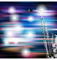 abstract blue white music background with vector image vector image