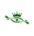 abstract eye king nature plant vision logo icon vector image