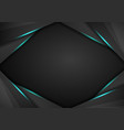 abstract metallic modern blue black frame design vector image vector image