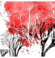 Abstract silhouette of trees vector image vector image