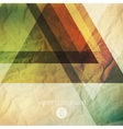 Abstraction retro grunge triangles vector image vector image