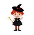 adorable little witch halloween costume vector image vector image
