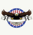 american bald eagle hold the blank ribbon for text vector image