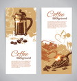 banner set vintage coffee backgrounds vector image vector image