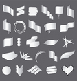 Biggest collection of white flags vector image vector image
