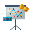 business board presentation money dollar euro vector image vector image