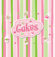 Cake Label Doodle Design vector image vector image