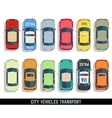 Cars top view flat city vehicle transport vector image vector image