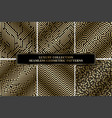 collection of seamless geometric luxury patterns vector image vector image