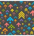 Colorful Arrow Background on Dark vector image vector image