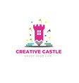 creative castle logo designs child modern and vector image