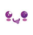 cute kawaii cartoon face vector image vector image