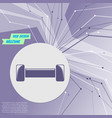 dumbbell icon on purple abstract modern vector image