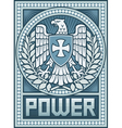 eagle poster - symbol power vector image vector image