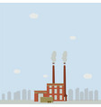 factory emit smoke in cities vector image
