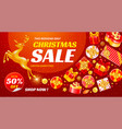 festive christmas and new year sale banner vector image vector image
