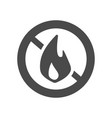 fire prohibition hazard risk sign icon and stop vector image