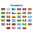 Flags Of The Americas vector image