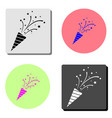 flapper with confetti flat icon vector image vector image