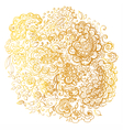 Floral doodle tattoo design vector image vector image