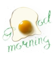 fried egg morning vector image vector image