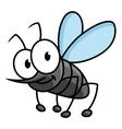 Funny smiling gray mosquito cartoon character vector image vector image